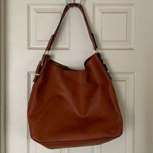 Brown leather satchel/shoulder bag